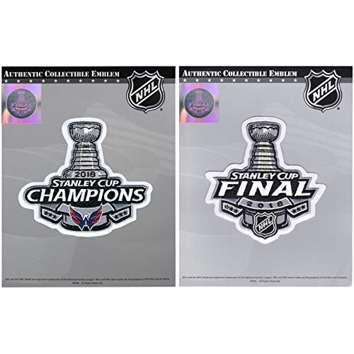 2018 Stanley Cup Final & NHL Washington Capitals Champions Jersey Patch Combo ()