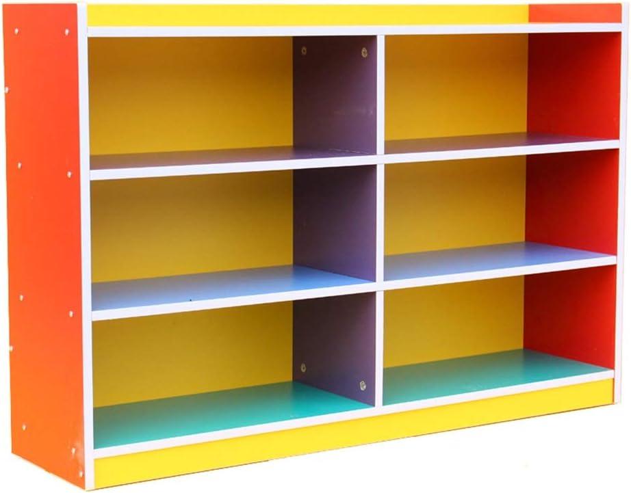 子供用おもちゃ収納ラック 子供の本棚ブック玩具プレイルーム、ベッドルーム、リビングルームのために、ストレージユニバーサルテーマラック おもちゃ箱 ラック (Color : Color, Size : 80x30x120cm)