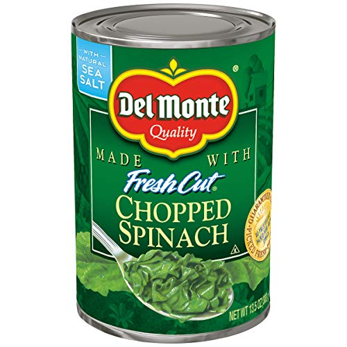 Del Monte Fresh Cut Chopped Spinach, 13.5 Ounce (Pack of 12) ()