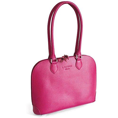 De Rose Fuchsia bolso Fabricación New Lujo York Francesa Piel TxEUZ0wqnf