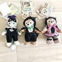 Disney SEA東京ディズニーシー 2014 ハロウィン ぬいぐるみバッジ 黒猫 ダッフィー シェリーメイ ジェラトーニ TDS ぬいば duffyの商品画像