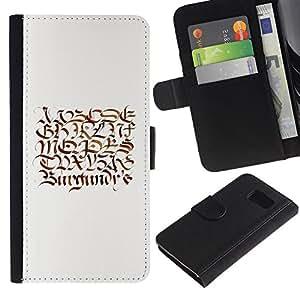 Be Good Phone Accessory // Caso del tirón Billetera de Cuero Titular de la tarjeta Carcasa Funda de Protección para Samsung Galaxy S6 SM-G920 // secret letter