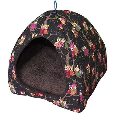 Absolute Cozy Pet Dog Cat Cave Mongolian Yurt Shaped House Bed with Removable Cushion Inside