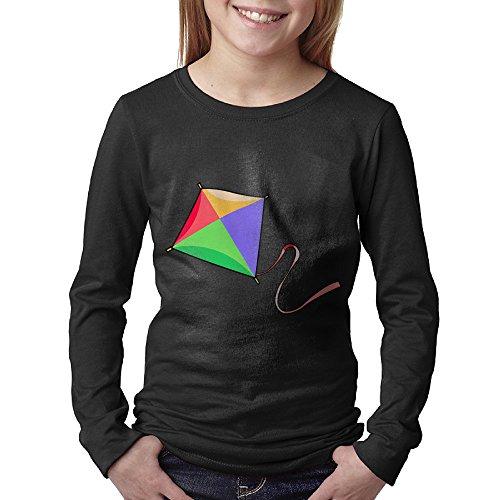 Kite Clipart - Muxu Kite Clipart Youth's Long Sleeves Tee Custom Top
