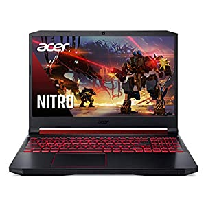Acer Nitro 5 Gaming Laptop, 10th Gen Intel Core i5-10300H, NVIDIA GeForce GTX 1650 Ti, 15.6″ Full HD IPS 144Hz Display, 8GB DDR4, 256GB NVMe SSD, WiFi 6, DTS X Ultra, Backlit Keyboard, AN515-55-59KS