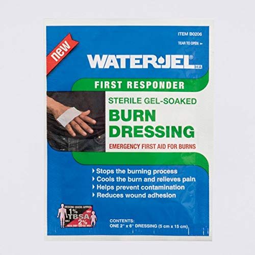 First Aid Only 300-0206-01 Water Jel Burn Dressing, 2''x 6'', 15 Dressings Total by First Aid Only
