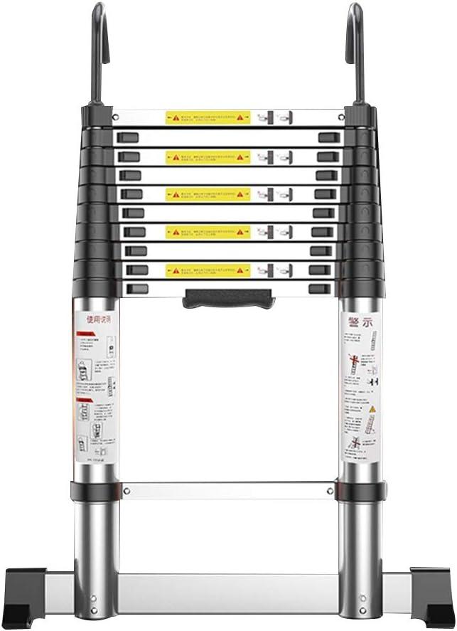 ZR- Escalera Telescópica, Escalera Bambú Casa Recta, Escalera Plegable Gruesa, Escalera Ingeniería Aleación Aluminio, Con Gancho -Fácil de almacenar y fácil de llevar: Amazon.es: Hogar
