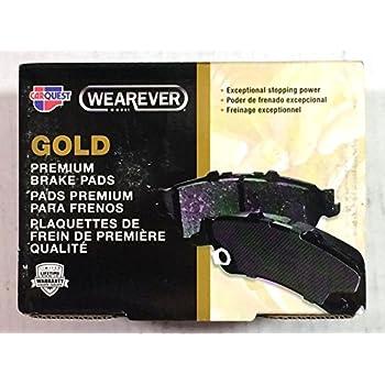 Wearever Brake Pads >> Amazon.com: Carquest Wearever Gold Ceramic Brake Pads ...