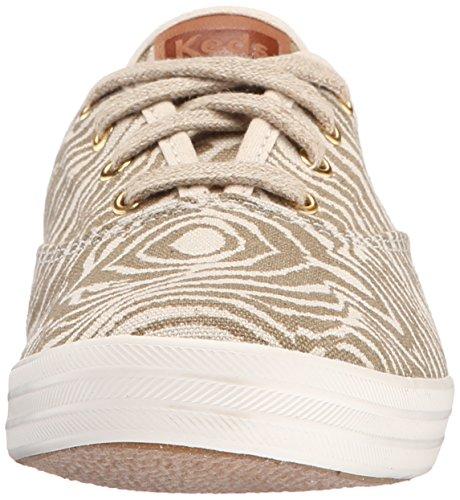 Keds Womens Mästare Djur Slip-on Mode Sneaker Elmwood Zebra