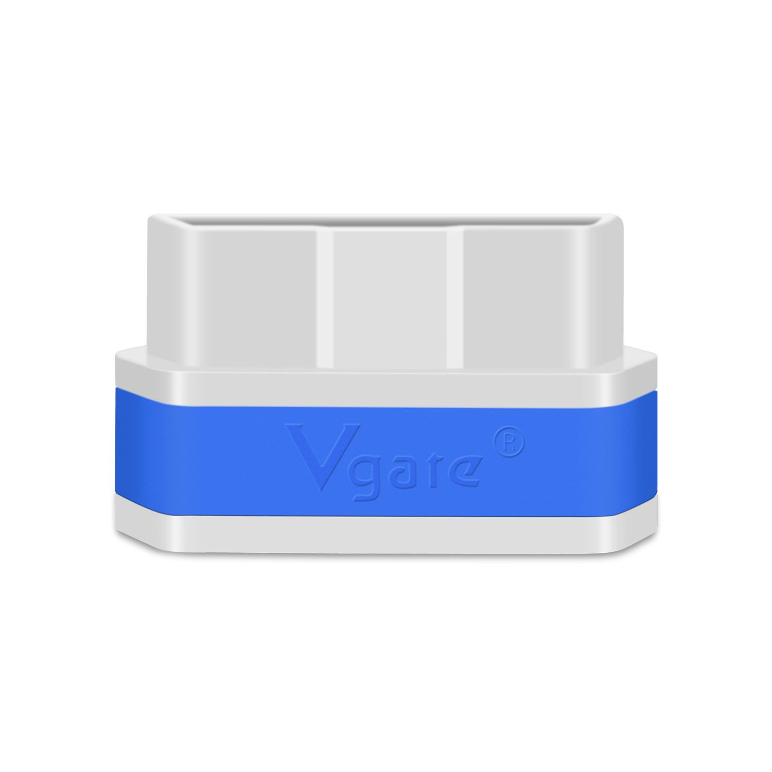 Vgate iCar 2 Mini ELM327 OBD II WiFi Car Diagnostic Scan Tool for iOS and Android with Switch Auto Sleep ( White & Blue )