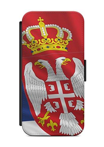 iPhone 8 PLUS Serbien Srbija V2 Flip Tasche Hülle Case Cover Schutz Handy