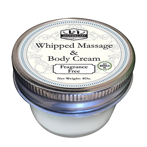 Whipped Massage & Body Cream with Marula Oil, Aromatherapy cream loaded with antioxidants and Vitamins for youthful looking skin ()