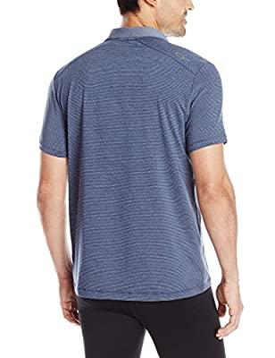 Calvin Klein Men's Performance Short Sleeve Core Grindle Feeder Stripe Jersey Po