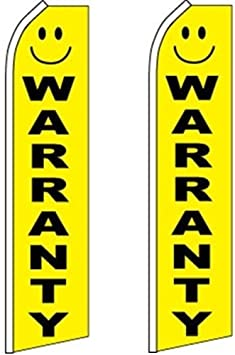 10 Swooper Flutter Flags SALE Yellow Black