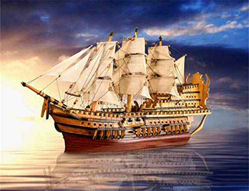 DIY 5D Diamond Painting Full Drilling Embroidery Rhinestone Paste Giant ship6 DIY Painting Cross Stitch Household A…