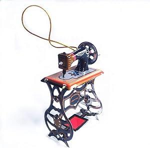 Xeminor Antique Style Sewing Machine Shape Women Home Bag Decoration Pendant