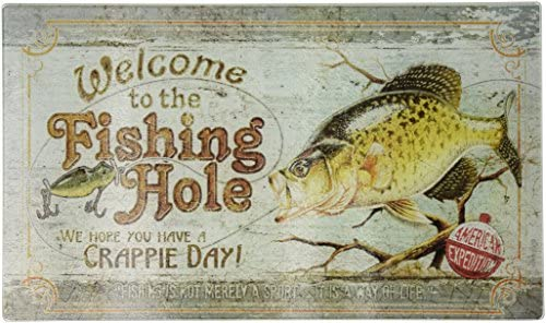 SJT ENTERPRISES 10 Round Wood Plaque Sign Try Crappie Days Guide Service Fish INC SJT22121 Features The Artwork of JQ Licensing
