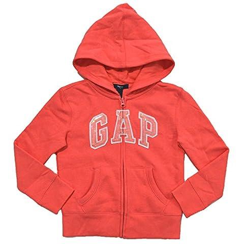 Gap Girls Zip Up Fleece Arch Logo Hoodie (S, Pink Coral) - Gap Girls Jacket