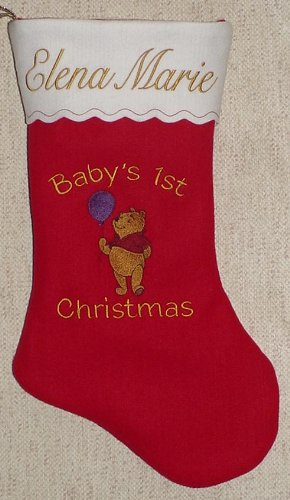 "17"" Personalized Baby's First Chrismas Stocking"