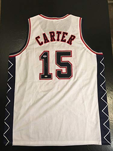 Vince Basketball Carter (Vince Carter Nets Auto Autographed Signed Xl Basketball Jersey PSA/DNA Sticker Only)