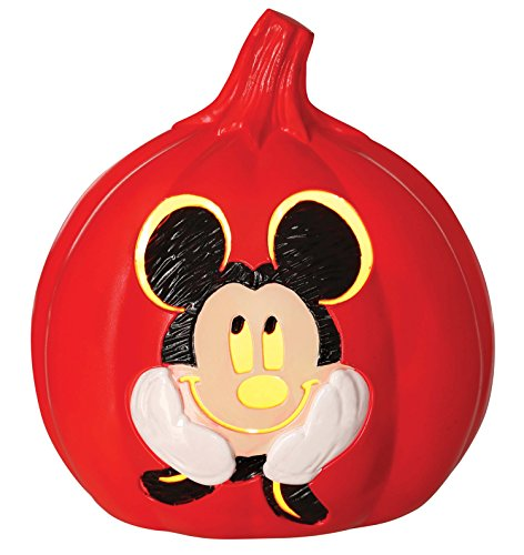 Disney Mickey Mouse Light up Pumpkin, (Halloween Pumpkins Disney)