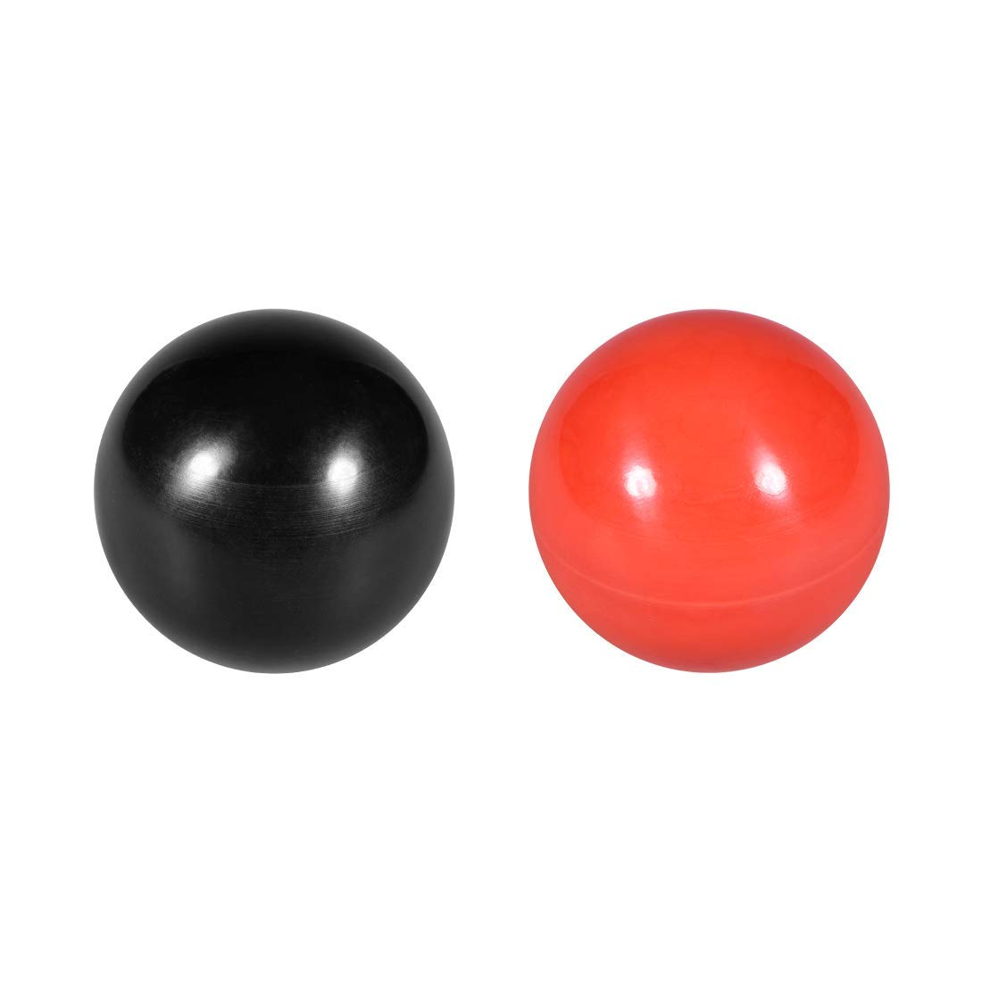 M12 thermostable Ball knob Female Thread Machine Handle Diameter 40 mm Smooth Edge Red 1 Pieces//Black 1 Pieces