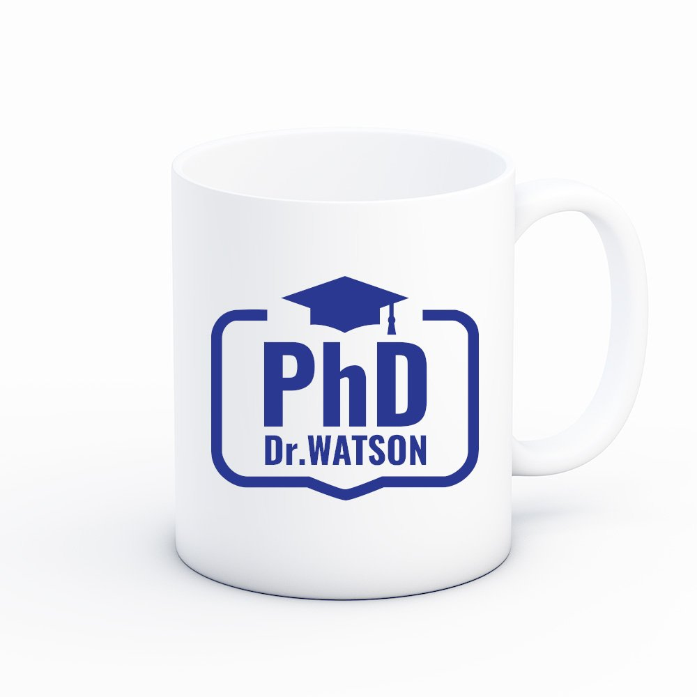 Froolu PhD Graduation Personalized Coffee Mug – Unique Gifts for College, University & School Grad Students