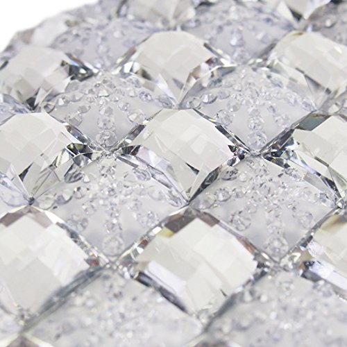 Rhinestone Bling Party K Clip Clutch Silver Purse Money Bag Evening Missy EOF5xqO