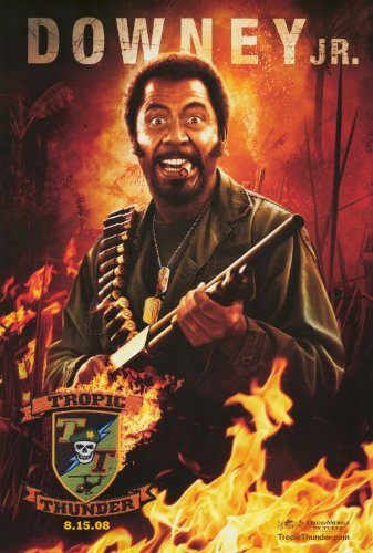 Tropic Thunder Poster C 27x40 Ben Stiller Jack Black Robert Downey - Downey Jr Style Robert
