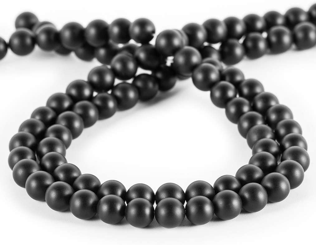 Natural Black Onyx Beads RD 13mm 6pcs SET DIY Jewelry Supplies 72ct Agate beads