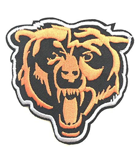 NFL Chicago Bear Head Logo EMBROIDERED PATCH Badge Iron-on, Sew On - Shipped From USA