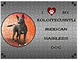 I love My Xoloitzcuintli Mexican Haireless Dog Puzzle with Photo Tin D319 (551 pc.)