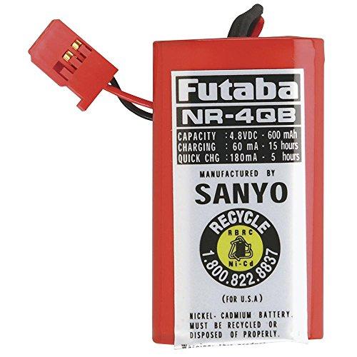 Futaba NR4QB RX NiCd Square 4.8V 600mAh J Receiver Battery
