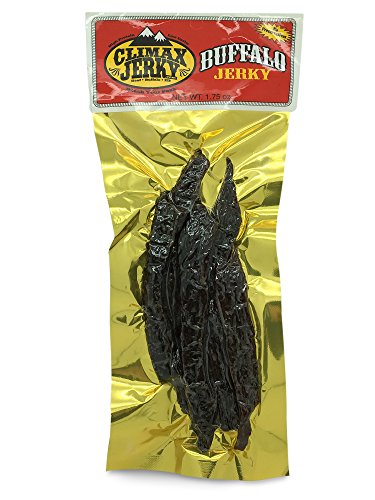 BEST Premium Natural Style Kippered Cut Thick Strips 1.75 OZ. Buffalo Jerky - No Preservatives - High Protein - Low Carbs - Buy Multiple Packs & Save! (Buffalo Original, Original 1 Pack)