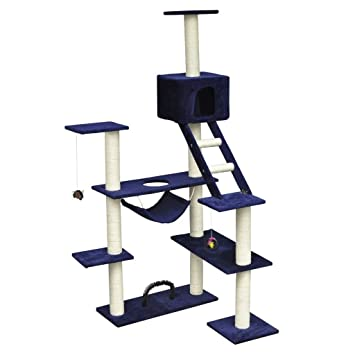 vidaXL Rascador para Gatos 184 cm Color Azul Oscuro Gimnasio para gato: Amazon.es: Hogar