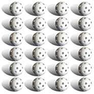 24 Polyurethane White Plastic Golf Balls by Crown Sporting Goods