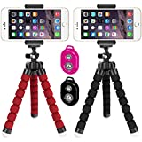 Flexible Tripod, IHUIXINHE Mini Stand Holder with Bluetooth Wireless Remote, Octopus Style Travel Portable Universal Tripod for Iphone Android Sony Garmin Digital Camera & Gopro (2 Pack)