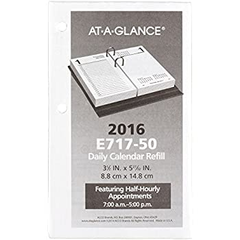 Amazon.com : AT-A-GLANCE Daily Desk Calendar 2017 Refill, January ...