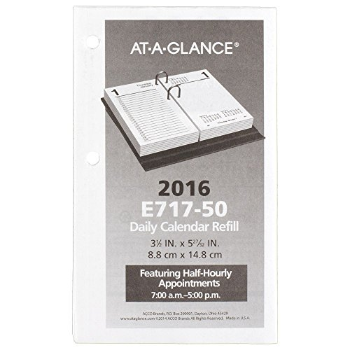 AT-A-GLANCE Daily Desk Calendar 2016 Refill, 12 Months, January - December, 3.5 x 6 Inch Page Size (E71750)
