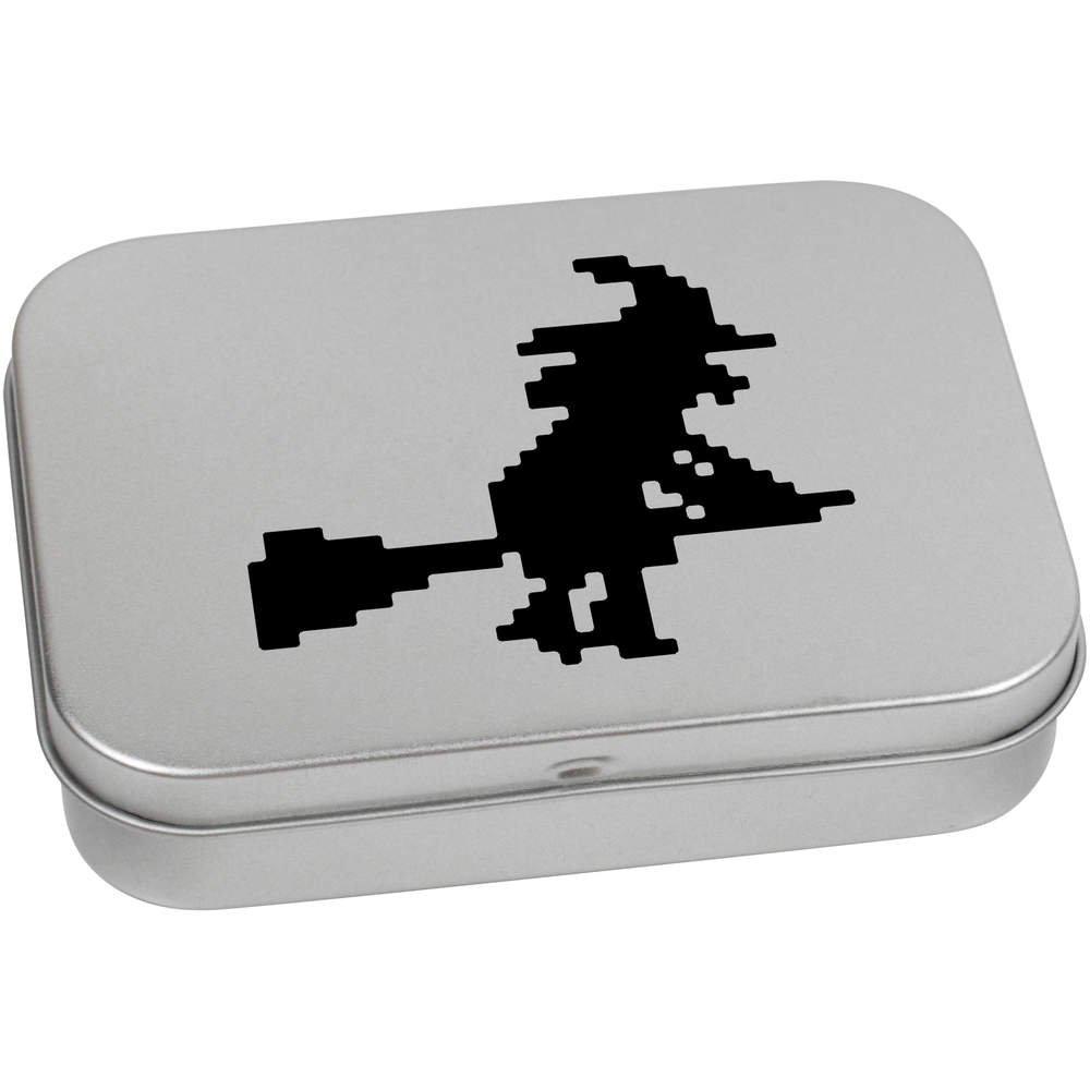 Azeeda 110mm x 80mm Pixel-Hexe Blechdose Aufbewahrungsbox TT00091693
