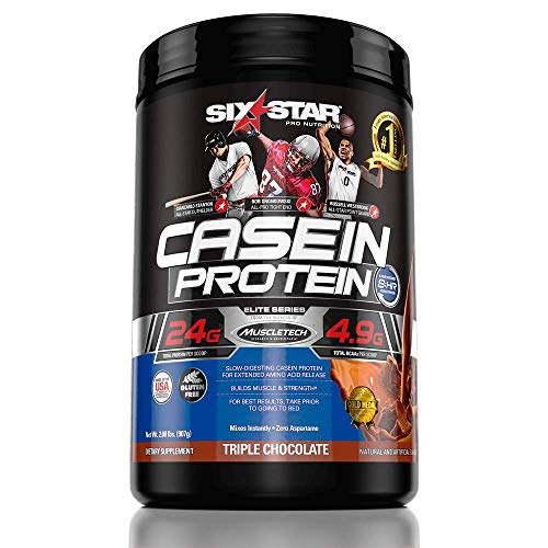 Six Star Pro Nutrition Elite Protein Casein Protein, Triple