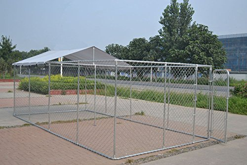 ChickenCoopOutlet Backyard Dog Kennel Outdoor Pet Pen Chain Link Fence House Large Cage 20'x10'x6'