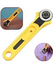 Cortador giratorio circular, herramienta de corte de cuero para tela, cortadora de cuchilla redonda, rueda de corte de tela para corte de cuero y otras costuras de proyectos de bricolaje (28mm)