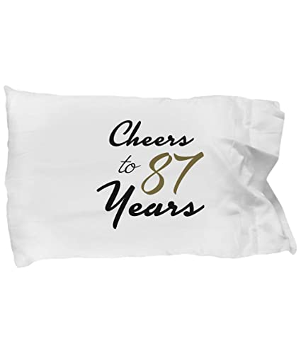 Image Unavailable Not Available For Color DesiDD 87th Birthday Pillowcase