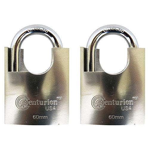 Centurion SIPL060 High Security Padlock, 60mm Armored Iron Body - Heavy Duty Padlock, Keyed Different (60mm Body (2) Pieces)