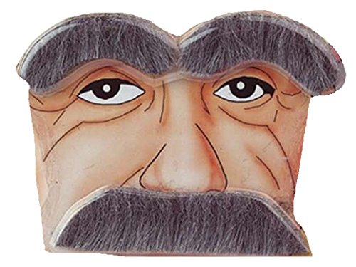 Old Man Eyebrows and Moustache Kit
