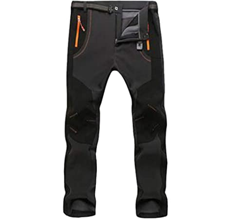 Comcrib Pantalones de Senderismo para Hombre Pantalones Impermeables Pantalones de Monta/ña Gruesos Resistentes al Viento