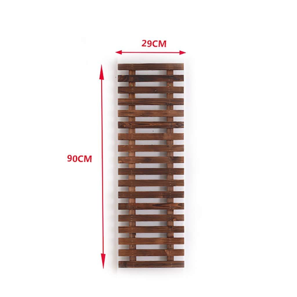 h/ängend blumentopfhalter Wand WYQ Pflanzenhalter h/ängend Farbe : Brown, gr/ö/ße : 29cm /× 60cm blumenst/änder Holz innen au/ßen