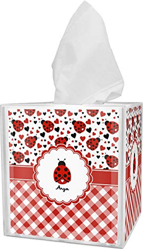 RNK Shops Ladybugs & Gingham Tissue Box Cover (Personalized)