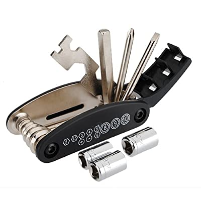 16 in 1 Bicycle Tire Repair Tool Set Kit Chain Rivet Extractor